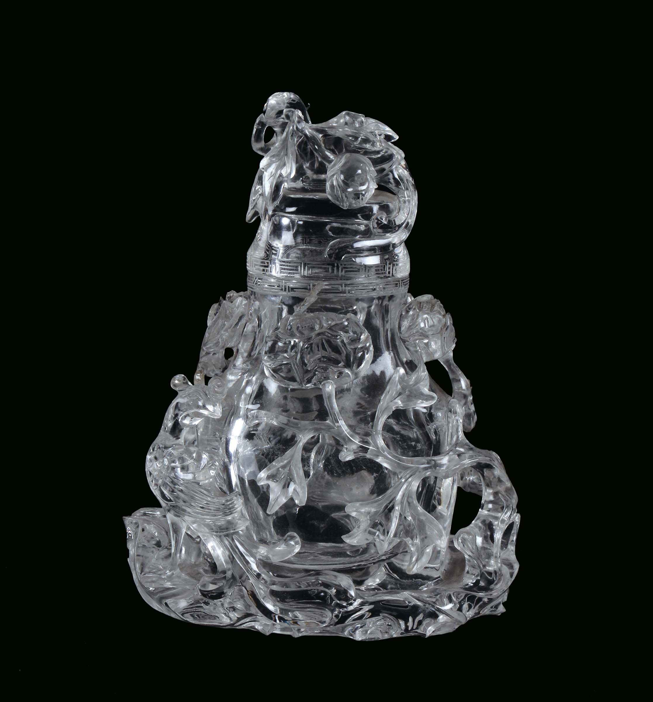Rock crystal vase carved with naturalistic motives china qing rock crystal vase carved with naturalistic motives china qing dynasty beginning 20th century h cm reviewsmspy