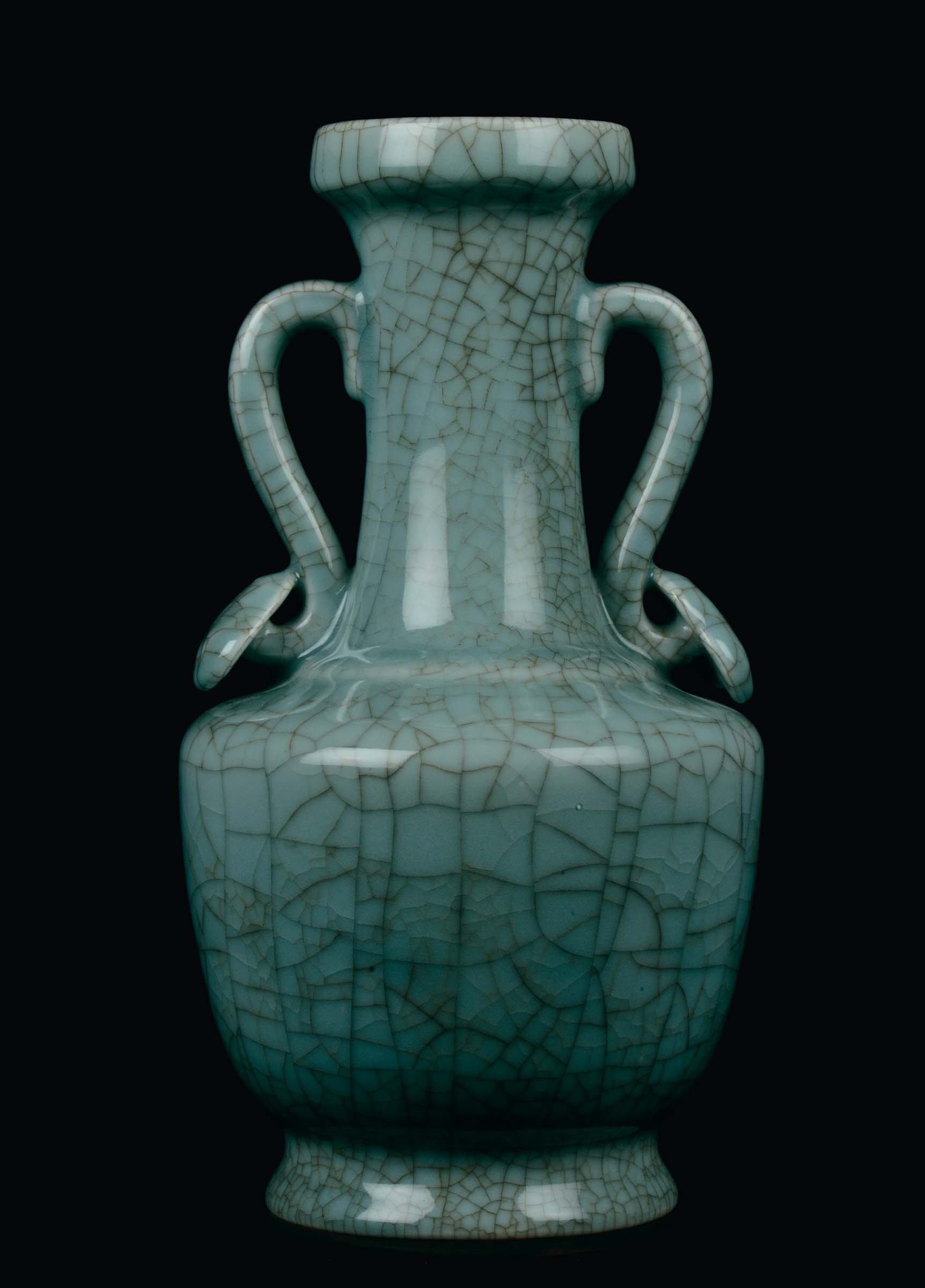 Celadon Porcelain Guan Vase China Qing Dynasty