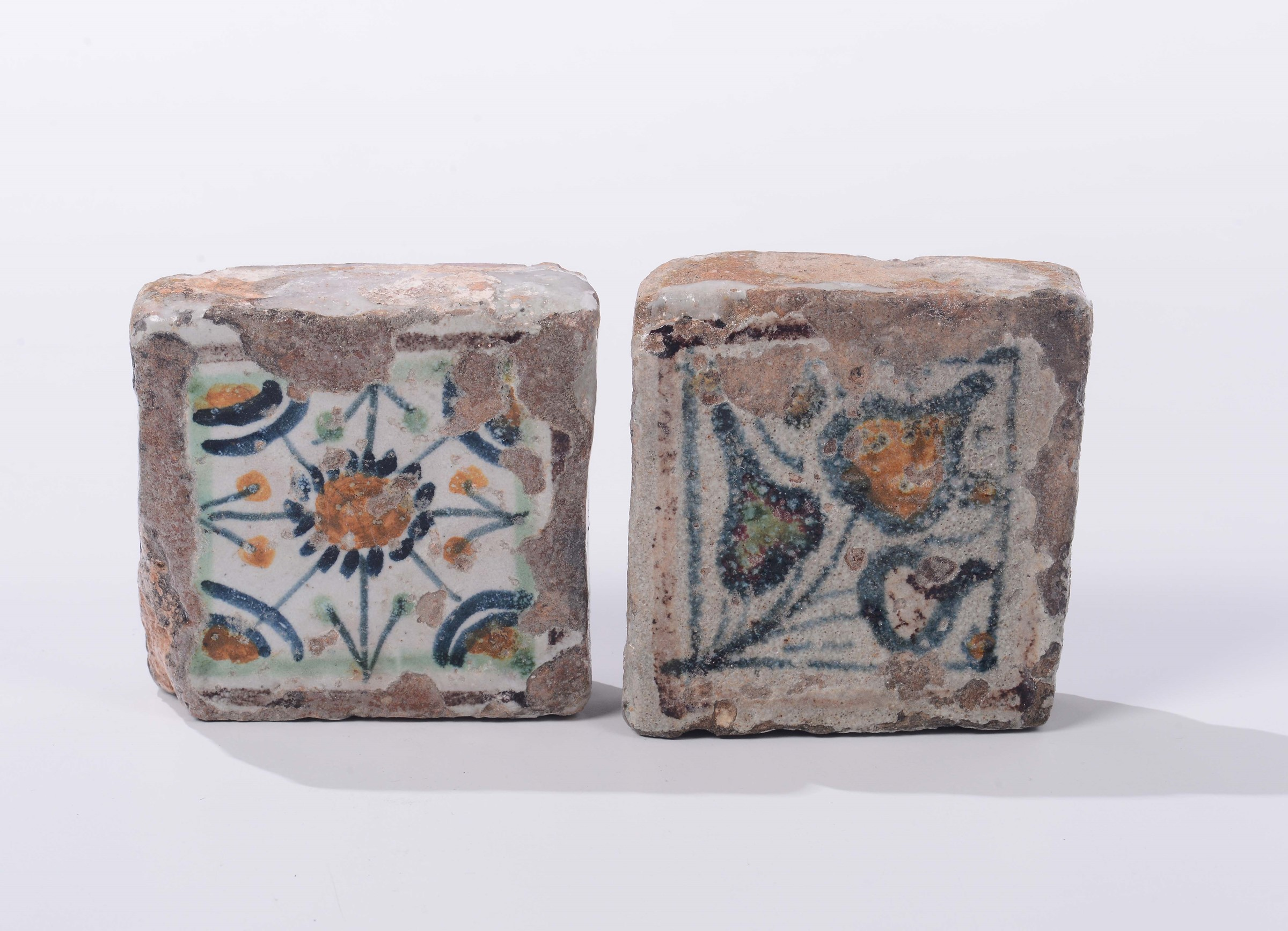 Two maiolica floor tiles umbria second half of the 15th two maiolica floor tiles umbria second half of the 15th century dailygadgetfo Choice Image