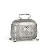 A silver tea caddy, City of Sheffield 1895, silversmith  ...