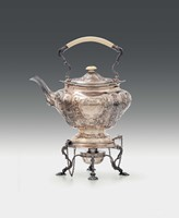 A silver samovar, London 1906