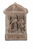 A marble bas-relief depicting the Virgin of Mercy  ...