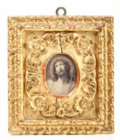 Small frame in carved and gilded wood. Italy, 17th-18th  ...