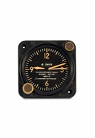 LONGINES-WITTNAUER, 8 Days, steel cockpit clock. Made  ...