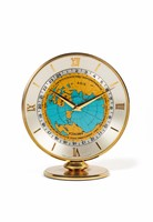 Imhof World Time Clock, Swiss, No. 1488361. Small,  ...