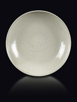 A Ding dish with carp, China, Song Dynasty (960-12 ...