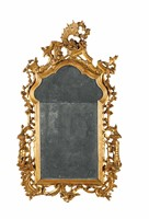 A Louis XV mirror in carved and gilt wood, Venice,  ...