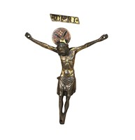 A Corpus Christi in molten, chiselled and gilded bronze.  ...