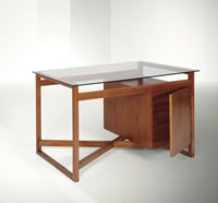 Franco Albini, a desk with a wooden structure and  ...