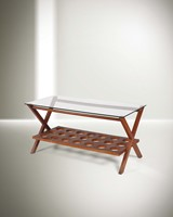 Franco Albini, a low table with a wooden structure  ...