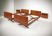 Franco Albini, a pair of beds with two nightstands.  ...