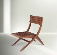 Franco Albini, a study chair with a wooden structure.  ...
