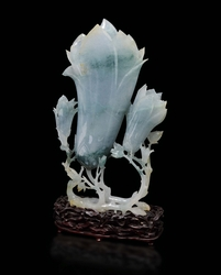 A large jadeite buds group, China, early  ...