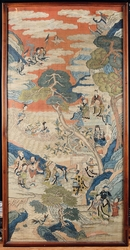 An important Imperial silk Kesi depicting  ...