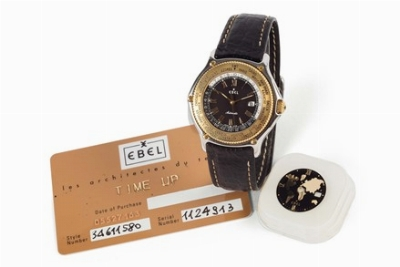 Ebel, Voyager, Automatic, World Time, case No. 34611380. Fine, center...