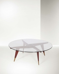 Gio Ponti, a coffee table with a wooden  ...