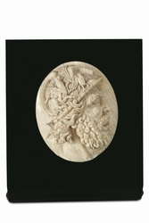 A profile of the god Ares (Mars) in carved  ...